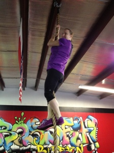 My first rope climb!